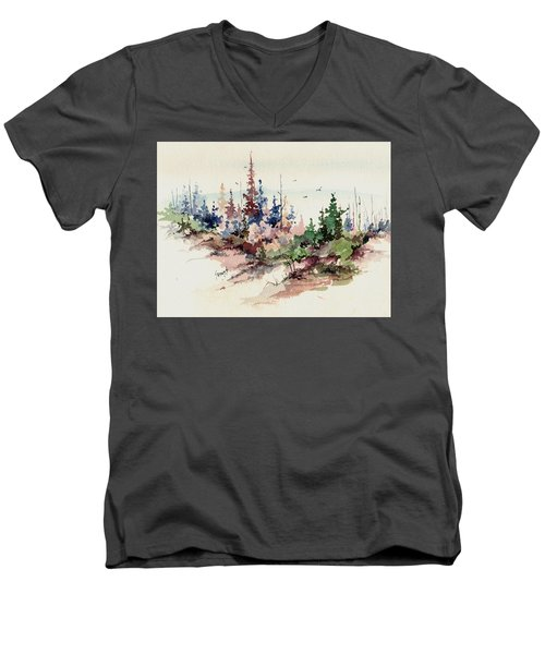 Wilderness Men's V-Neck T-Shirt by Sam Sidders