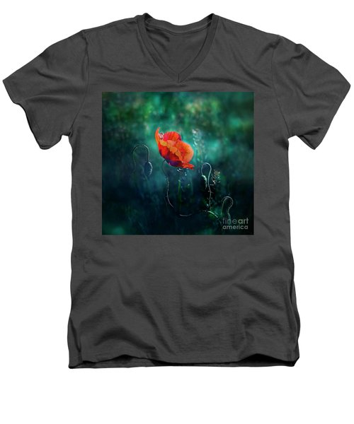 Wildest Dreams Men's V-Neck T-Shirt by Agnieszka Mlicka