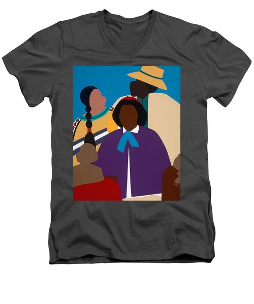 Wildfire A Tribute To Edmonia Lewis Men's V-Neck T-Shirt