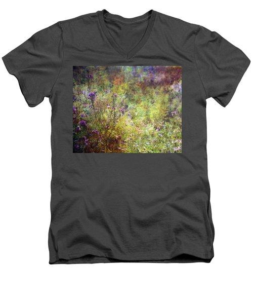 Wildflower Garden Impression 4464 Idp_2 Men's V-Neck T-Shirt