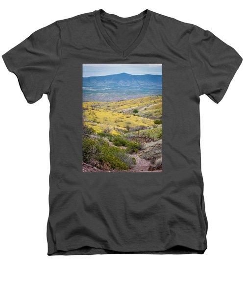 Wildflower Meadows Men's V-Neck T-Shirt by Karen Stephenson