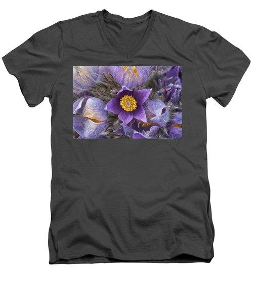 Wildflowers At The Delta Junction Bison Range Men's V-Neck T-Shirt