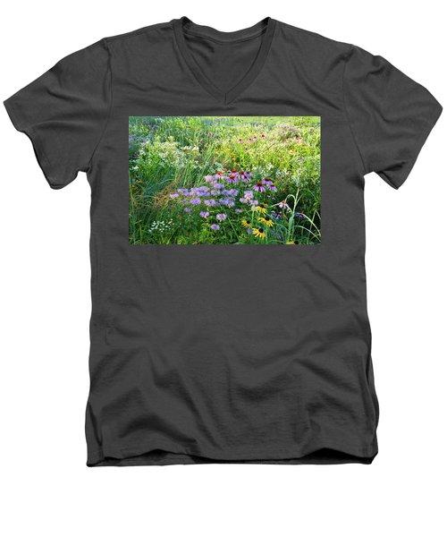 Wildflowers In Moraine Hills State Park Men's V-Neck T-Shirt