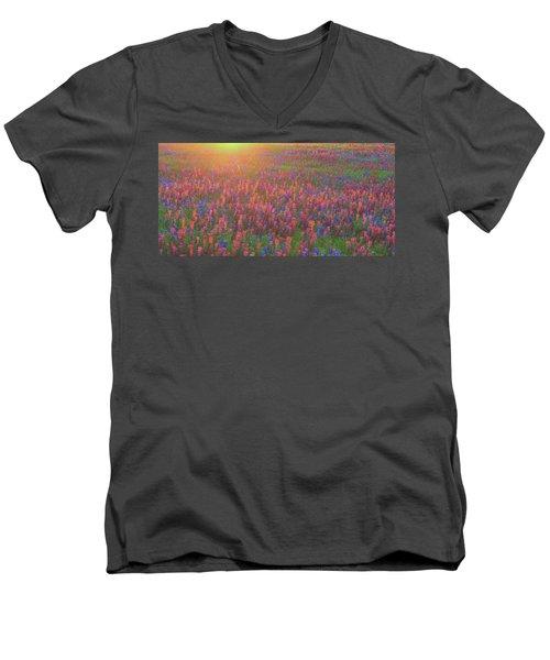 Wildflowers In Texas Men's V-Neck T-Shirt