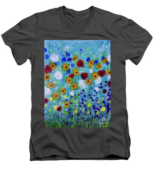 Wildflowers Never Die Men's V-Neck T-Shirt
