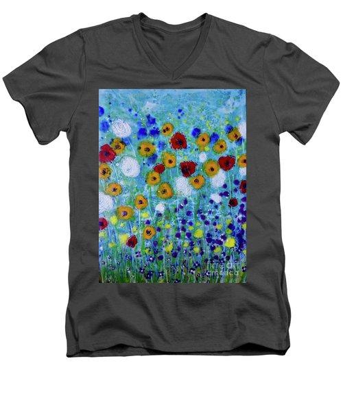 Wildflowers Never Die Men's V-Neck T-Shirt