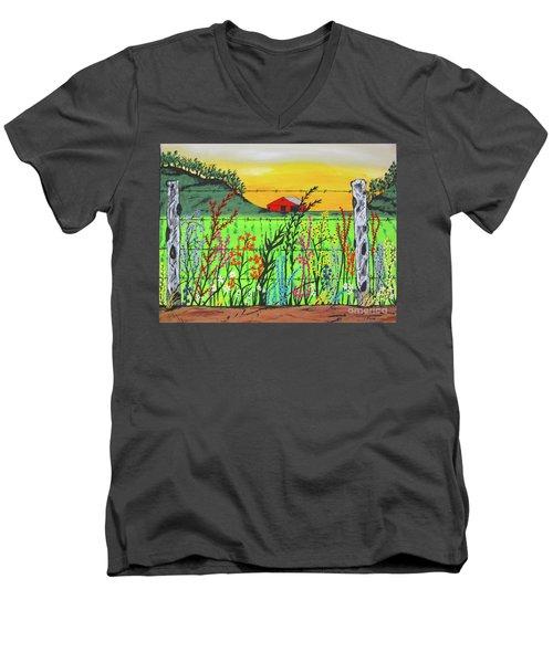 Wildflowers On The Farm Men's V-Neck T-Shirt