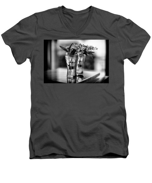 Men's V-Neck T-Shirt featuring the photograph Wildflowers Still Life by Laura Fasulo