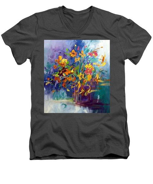 Wildflowers Men's V-Neck T-Shirt by Terri Einer