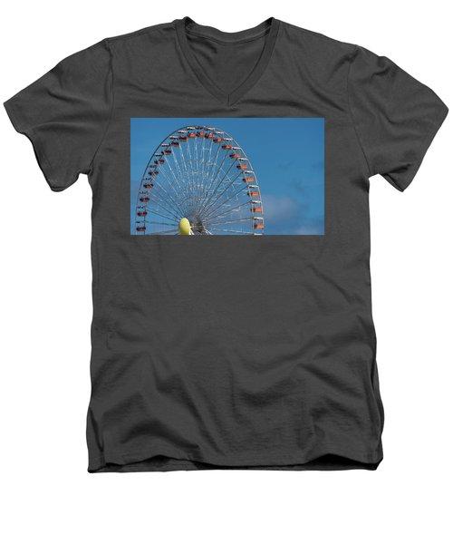 Men's V-Neck T-Shirt featuring the photograph Wildwood Ferris Wheel by Jennifer Ancker