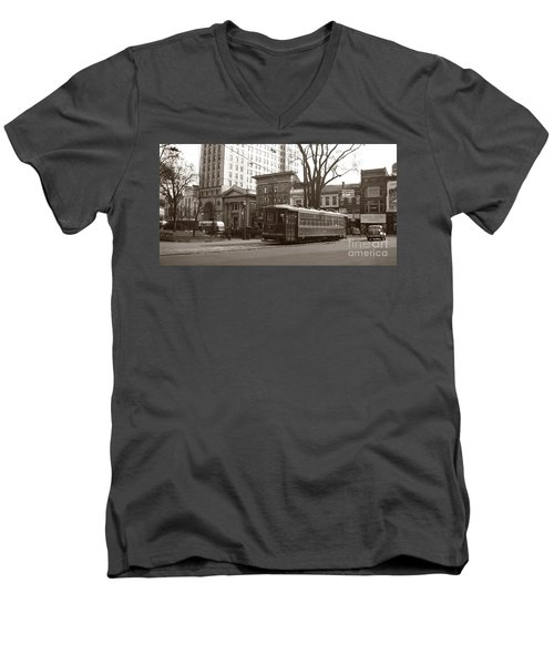 Wilkes Barre Pa Public Square Oct 1940 Men's V-Neck T-Shirt