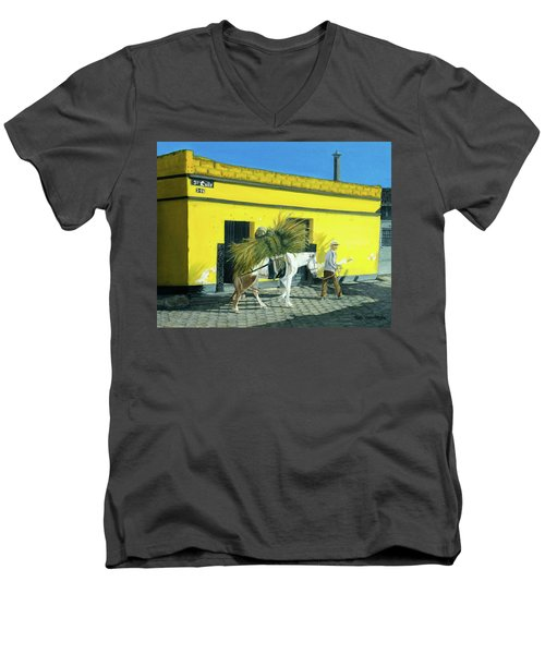 Will Work For Food Men's V-Neck T-Shirt