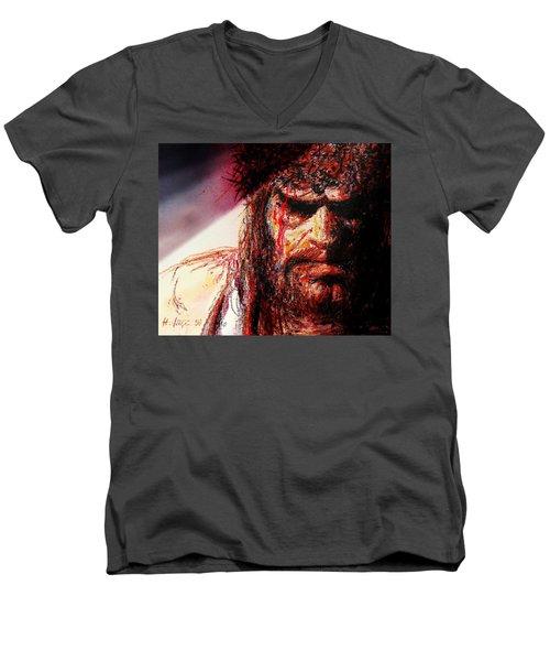 Willem Dafoe - Actor Men's V-Neck T-Shirt by Hartmut Jager
