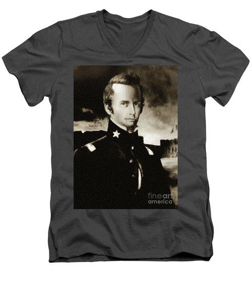 William B Travis - The Alamo Men's V-Neck T-Shirt