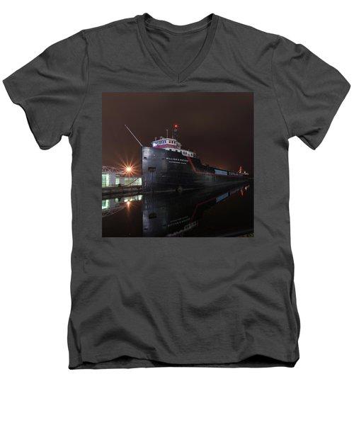 William G Mather At Night  Men's V-Neck T-Shirt