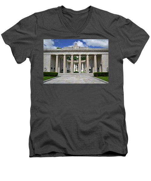 Men's V-Neck T-Shirt featuring the photograph William Mckinley Memorial 003 by George Bostian