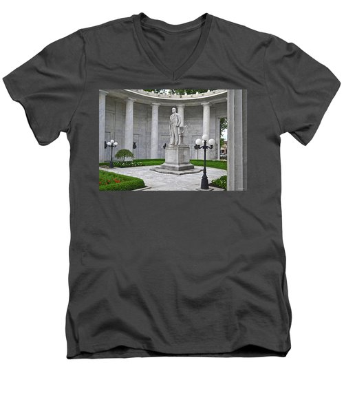 Men's V-Neck T-Shirt featuring the photograph William Mckinley Memorial 004 by George Bostian