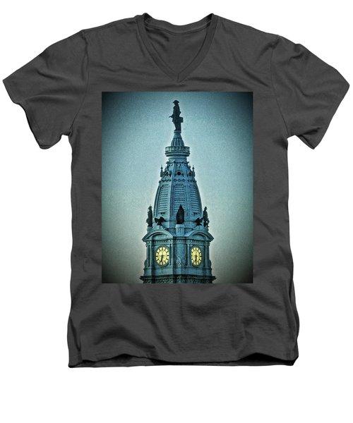William Penn On Top Men's V-Neck T-Shirt