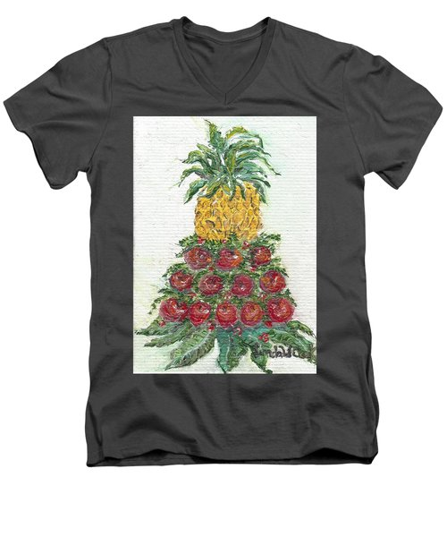 Williamsburg Apple Tree Men's V-Neck T-Shirt