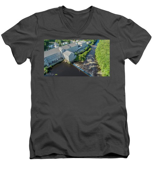 Willimantic River And Mill #2 Men's V-Neck T-Shirt