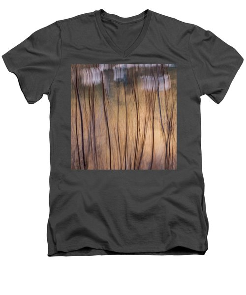 Willows In Winter Men's V-Neck T-Shirt