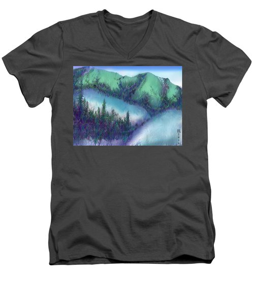 Wilmore Wilderness Area Men's V-Neck T-Shirt by Shirley Heyn
