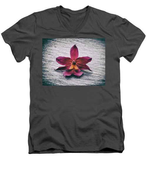 Wilting Orchid  Men's V-Neck T-Shirt