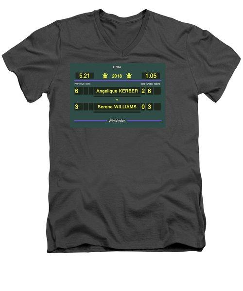 Wimbledon Scoreboard - Customizable - 2017 Muguruza Men's V-Neck T-Shirt