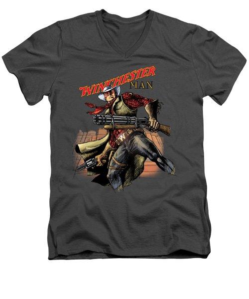 Winchester Man Transparent  Men's V-Neck T-Shirt