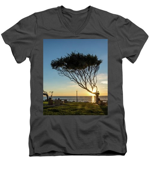Wind Blown Tree Men's V-Neck T-Shirt