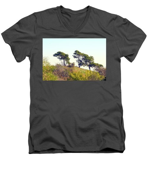 Wind Blown Trees Men's V-Neck T-Shirt