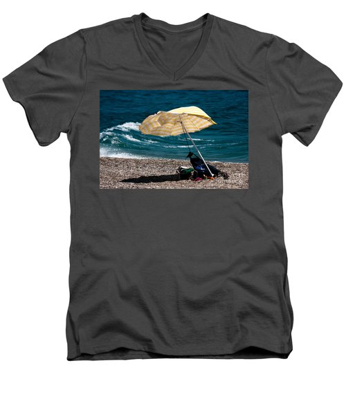 Men's V-Neck T-Shirt featuring the photograph Wind  by Bruno Spagnolo