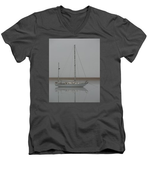 Men's V-Neck T-Shirt featuring the photograph Wind Fall by Laura Ragland
