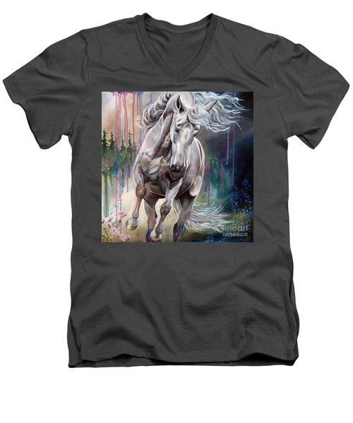 Wind Swept Men's V-Neck T-Shirt