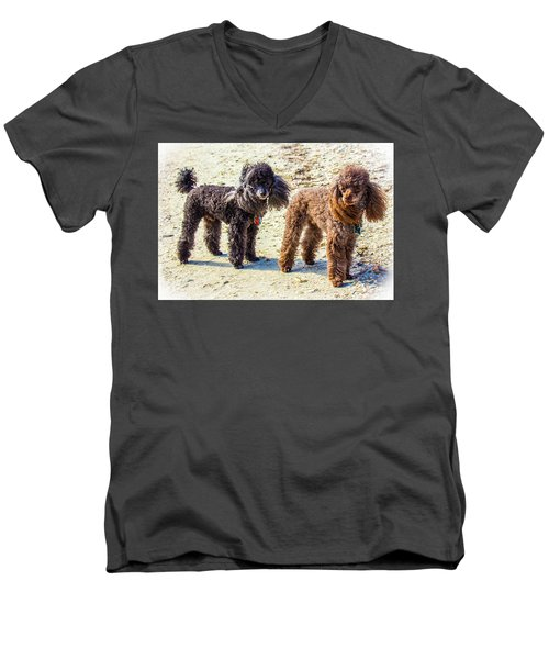 Windblown Beach Bums Men's V-Neck T-Shirt