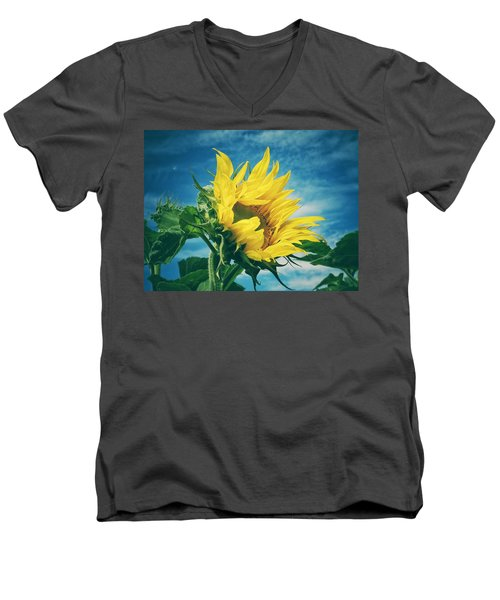 Men's V-Neck T-Shirt featuring the photograph Windblown  by Karen Stahlros