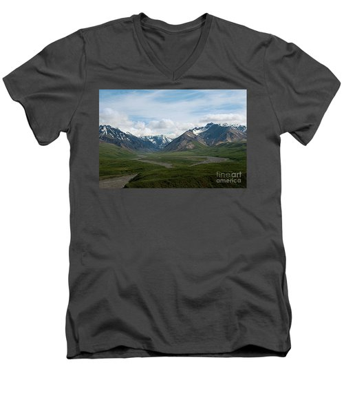 Winding Water Ways Men's V-Neck T-Shirt