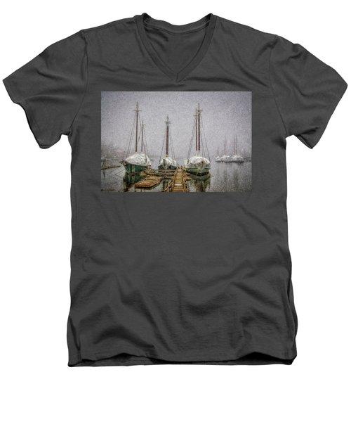 Windjammers In Winter Men's V-Neck T-Shirt