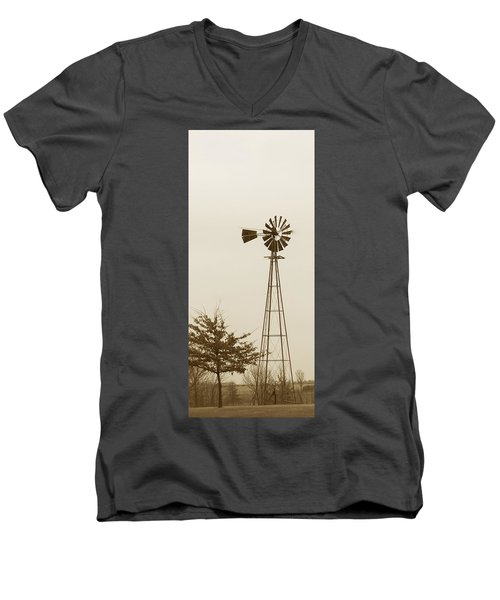 Windmill #1 Men's V-Neck T-Shirt