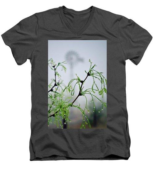 Windmill In The Mist Men's V-Neck T-Shirt