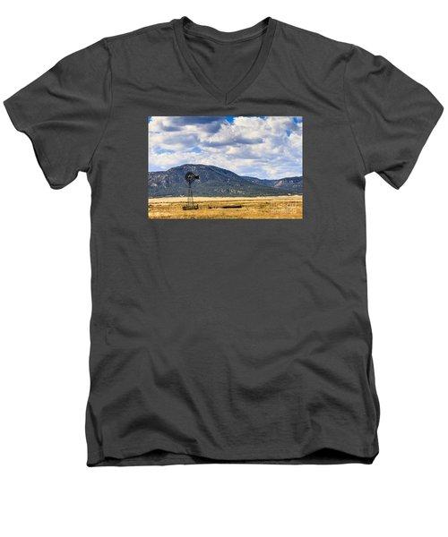 Windmill New Mexico Men's V-Neck T-Shirt