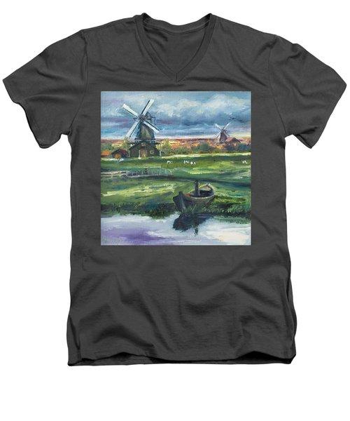 Windmills Men's V-Neck T-Shirt