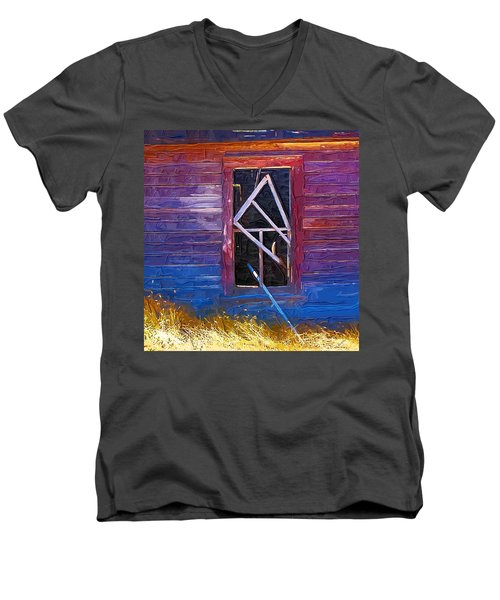 Men's V-Neck T-Shirt featuring the photograph Window-1 by Susan Kinney