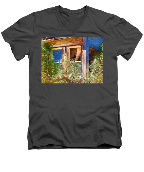 Men's V-Neck T-Shirt featuring the photograph Window 2 by Susan Kinney