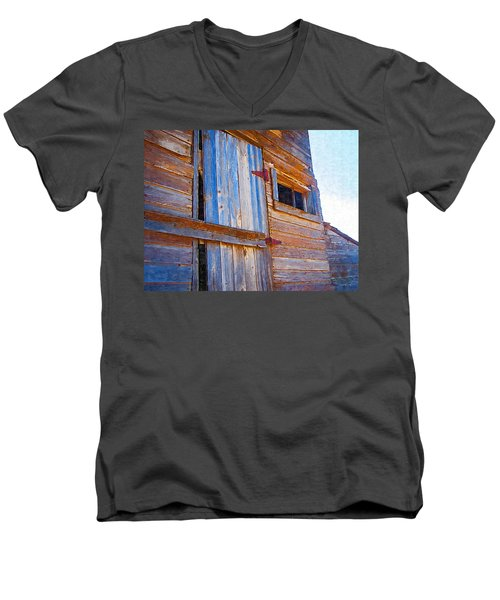 Men's V-Neck T-Shirt featuring the photograph Window 3 by Susan Kinney