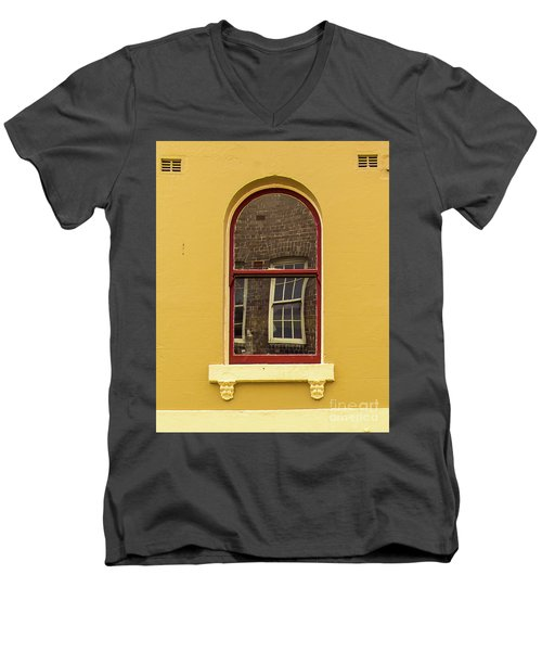 Men's V-Neck T-Shirt featuring the photograph Window And Window 2 by Perry Webster