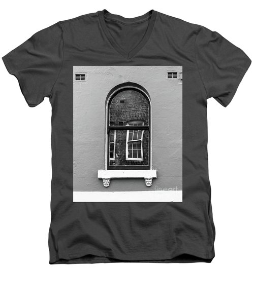 Men's V-Neck T-Shirt featuring the photograph Window And Window by Perry Webster
