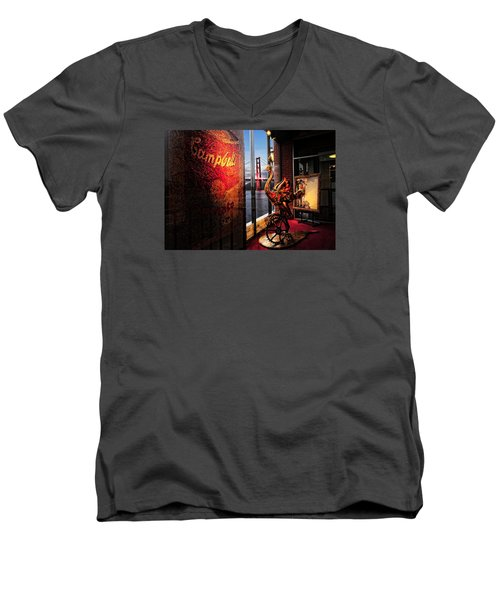 Men's V-Neck T-Shirt featuring the photograph Window Art by Steve Siri