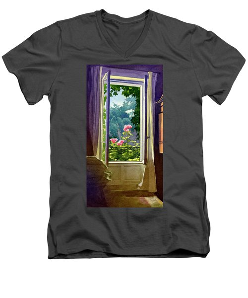 Window At Clermont Men's V-Neck T-Shirt