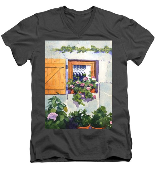 Window At St Saturnin Men's V-Neck T-Shirt